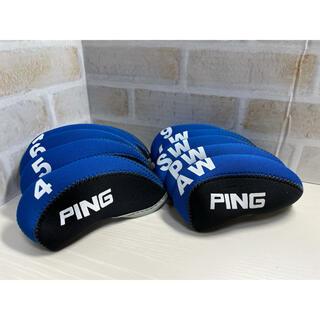 PING - ★ゴルフクラブ★アイアンヘッドカバー★PING★ピン青黒★10個【送料無料】