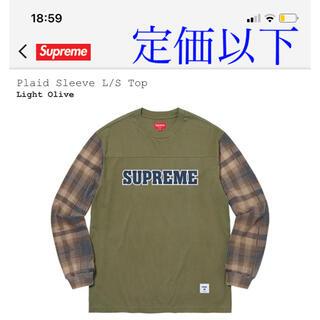 Supreme - supreme Plaid Sleeve L/S Top