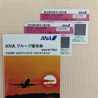 エーエヌエー(ゼンニッポンクウユ)(ANA(全日本空輸))のANA株主優待券 2枚 ※有効期限2021年11月30日まで延長(航空券)