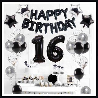 【数字2枚までお選べる】風船 パーティー バルーン 誕生日 お祝い ブラック(ウェルカムボード)