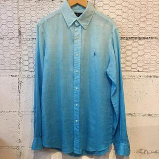 ラルフローレン(Ralph Lauren)のRalphLauren ラルフローレン ブルーグラデーション シルク 絹 シャツ(Tシャツ/カットソー(七分/長袖))