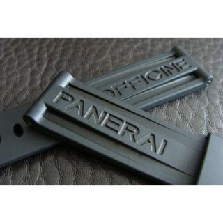 PANERAI - PANERAI パネライ 24mm Dバックル用 ラバー ベルト ストラップ 黒