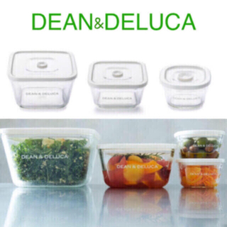 DEAN & DELUCA ガラス密閉パック&レンジ  3種類 3個セット