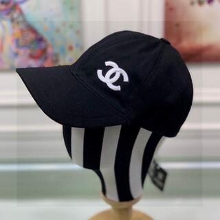 CHANEL  ちょー超にんき人気ー野球ぼー帽ハットブラック