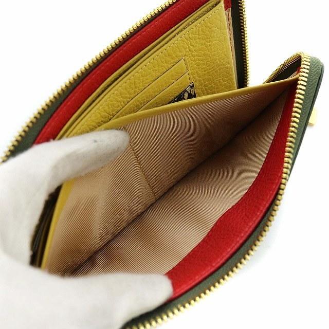 other(アザー)のココセリュックス ゴールド 長財布 L字ファスナー モスグリーン 黄色 レディースのファッション小物(財布)の商品写真