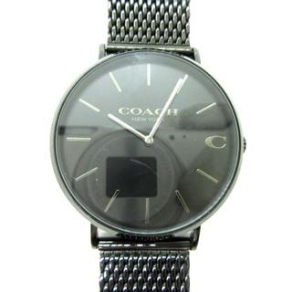 コーチ(COACH)のコーチ COACH チャールズ 腕時計 アナログ クォーツ ステンレス 2針 黒(腕時計(アナログ))