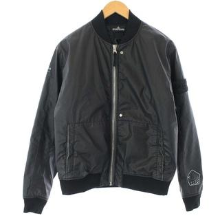 ストーンアイランド(STONE ISLAND)のストーンアイランド ジャケット ブルゾン 製品染め スタンドカラー M 黒(ブルゾン)