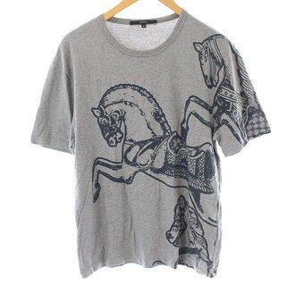 Gucci - グッチ Tシャツ カットソー 半袖 ホースプリント コットン M グレー