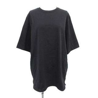 ヨリ yori 21SS Tシャツ カットソー 半袖 ラウンドカット 無地 黒