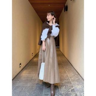 ノーブル(Noble)のcachec フェイクレザープリーツスカート M(ロングスカート)