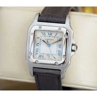 Cartier - 美品 カルティエ サントス ガルべ シルバー デイト LM Cartier