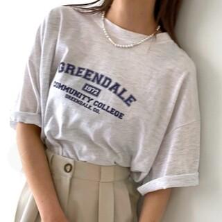 "TODAYFUL - via j(ヴィアジェイ) ""GREENDALE""半袖Tシャツ ロゴロンT"