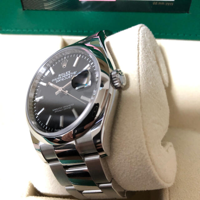 ROLEX(ロレックス)のロレックス デイトジャスト36 126200 ブラックバー オイスターブレス メンズの時計(腕時計(アナログ))の商品写真