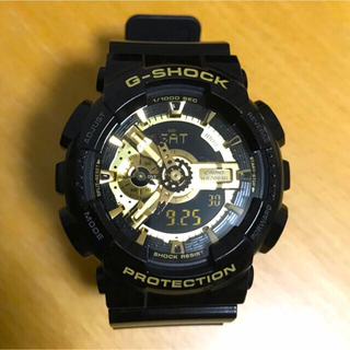 CASIO - 【超美品】CASIO G-SHOCK  GA-110GB 金色 反転液晶 稼働中