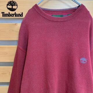 ティンバーランド(Timberland)のTimberland ニットセーター アースカラー 刺繍ロゴ ビッグシルエット(ニット/セーター)