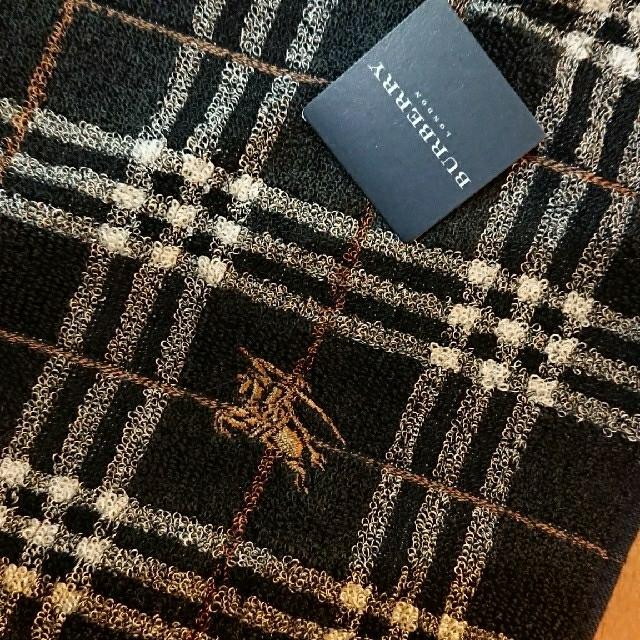 BURBERRY(バーバリー)の新品 バーバリー タオルハンカチ ブラック レディースのファッション小物(ハンカチ)の商品写真
