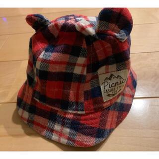 ミキハウス(mikihouse)のミキハウス 耳付き帽子 44センチ(帽子)