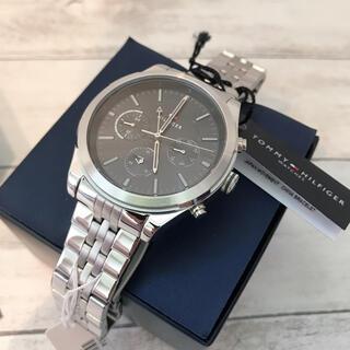 トミーヒルフィガー(TOMMY HILFIGER)の【海外モデル】トミーヒルフィガー メンズ クォーツ 腕時計 文字盤 ブラック(腕時計(アナログ))