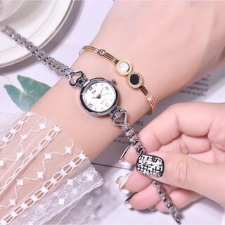 腕時計 レディース シルバーホワイト 韓国 QUARTZ  大人可愛い♡