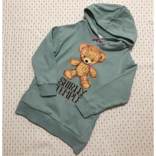 Shirley Temple(シャーリーテンプル)の専用 シャーリーテンプル くま ロング トレーナー 120 キッズ/ベビー/マタニティのキッズ服女の子用(90cm~)(Tシャツ/カットソー)の商品写真
