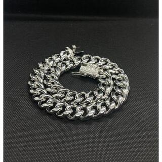 マイアミキューバリンクチェーン ブリンブリン ネックレス シルバー 40cm(ネックレス)