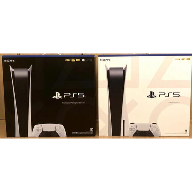 PlayStation(プレイステーション)の【新品・2台】PlayStation 5 通常版 デジタル・エディション 本体 エンタメ/ホビーのゲームソフト/ゲーム機本体(家庭用ゲーム機本体)の商品写真