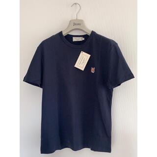 MAISON KITSUNE' - 新品メゾンキツネ フォックスヘッドパッチ Tシャツ ネイビー サイズS♪
