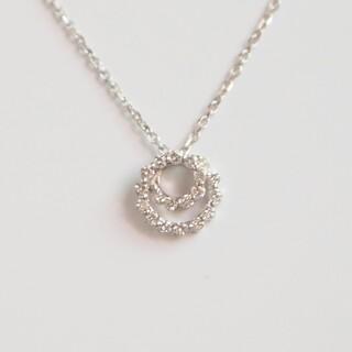 Vendome Aoyama - ヴァンドーム青山 ダイヤモンド ネックレス サークル プラチナ ペンダント 美品