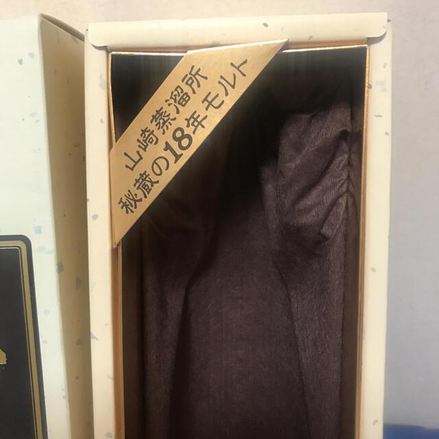 サントリー(サントリー)の★希少★ 山崎18年 旧ラベル空箱 食品/飲料/酒の酒(ウイスキー)の商品写真