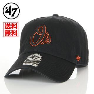 ニューエラー(NEW ERA)の【新品】47 キャップ オリオールズ 帽子 黒 レディース メンズ(キャップ)