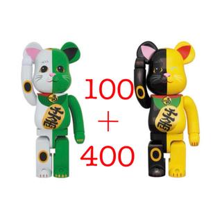 adidas - BE@RBRICK 招き猫 100%+400% 白×緑 金×黒 2体セット