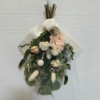 ドライフラワースワッグ ナチュラルブーケ 紫陽花 薔薇 オーガニック 花束ギフト