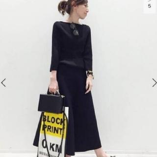 L'Appartement DEUXIEME CLASSE - 【美品】L'Appartement  Flare スカート ネイビー 34