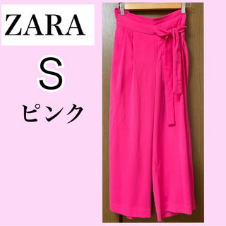 ZARA - ZARA ピンクズボン ガウチョパンツ ワイドパンツ Sサイズ
