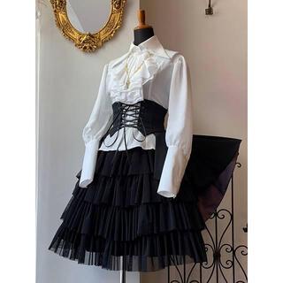 ATELIER BOZ - アトリエボズ ヘクトルミニオーバースカート ブラック×ボルドー