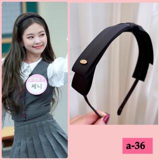 リボン カチューシャ 韓国アイドル着用モデル BLACKPINK ジェニー