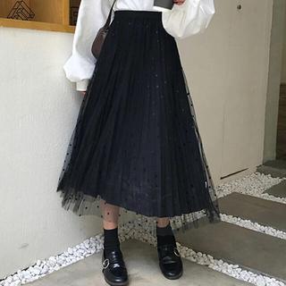 ジルスチュアート(JILLSTUART)の早いものガチ♡ブラックドットチュールスカート (ロングスカート)