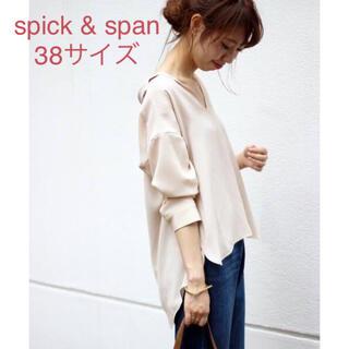 Spick and Span - 未使用*Spick & Span *上品とろみ*PEビエラウシロボタンシャツ
