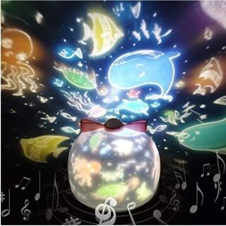 ★即日発送★ かわいい プロジェクター 音楽付 6種フィルム メルヘン 間接照明(プロジェクター)