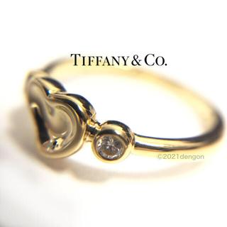 Tiffany & Co. - 【美品】ティファニー エルサペレッティ フルハート ダイヤ2Pリング