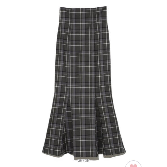 snidel(スナイデル)のsnidelハイウエストタイトヘムフレアチェックスカート レディースのスカート(ロングスカート)の商品写真