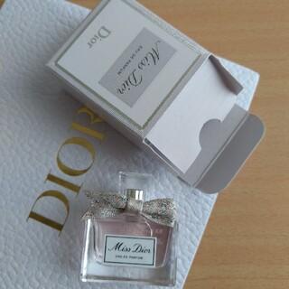ディオール(Dior)のレア♡ミスディオール 新商品オードゥ パルファン5ml ミニサイズ試供品 非売品(香水(女性用))