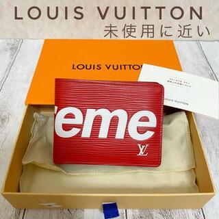 LOUIS VUITTON - LOUIS VUITTON supreme コラボ エピ 赤ポルトフォイユ 財布