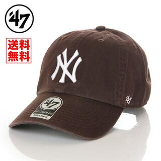 ニューエラー(NEW ERA)の【新品】47 キャップ NY ヤンキース 帽子 ブラウン 茶 レディース メンズ(キャップ)