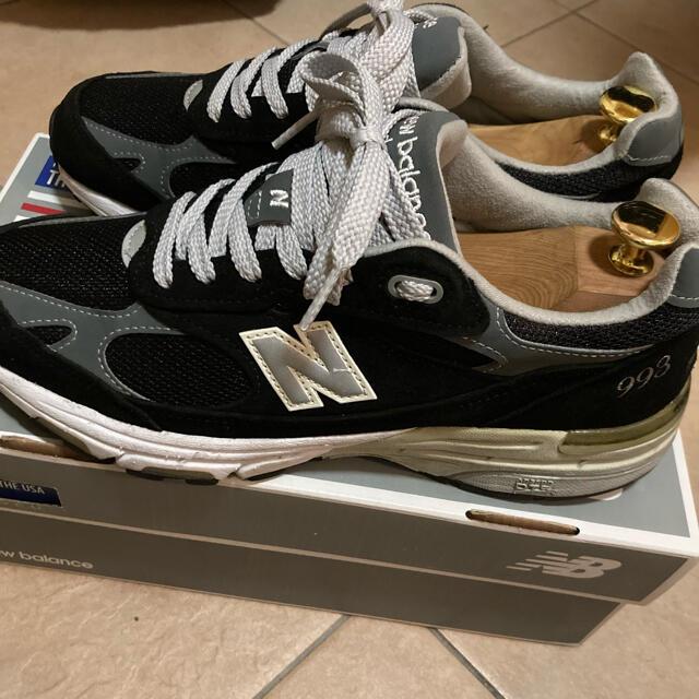 New Balance(ニューバランス)のニューバランス 993 ブラック 25.5センチ メンズの靴/シューズ(スニーカー)の商品写真