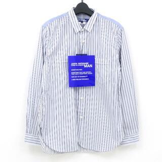 ジュンヤワタナベコムデギャルソン(JUNYA WATANABE COMME des GARCONS)のジュンヤワタナベ コムデギャルソン マン 21SS ストライプパッカリングシャツ(シャツ)