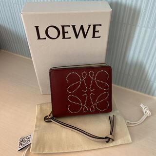 ロエベ(LOEWE)のロエベ LOEWE コンパクトジップウォレット アナグラム レザー 2つ折り財布(財布)