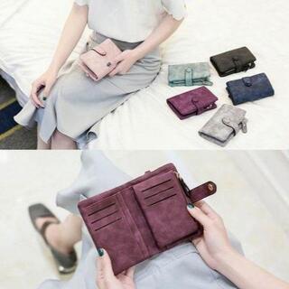 二つ折り財布(ワインレッド)