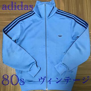 adidas - 美品 adidas ヴィンテージ80sトラックジャケット ブルー 送料込み