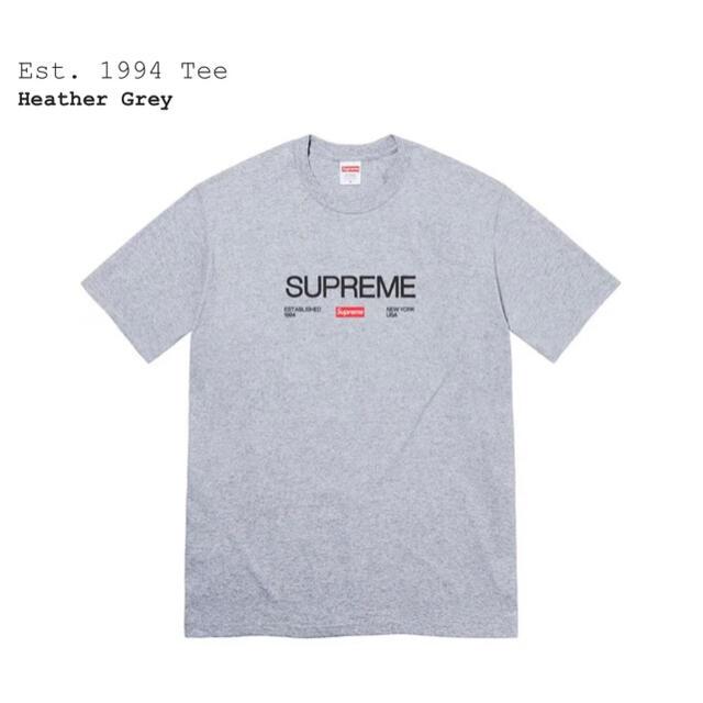 Supreme(シュプリーム)の【新品・未使用】Supreme Est. 1994 Tee XLサイズ メンズのトップス(Tシャツ/カットソー(半袖/袖なし))の商品写真